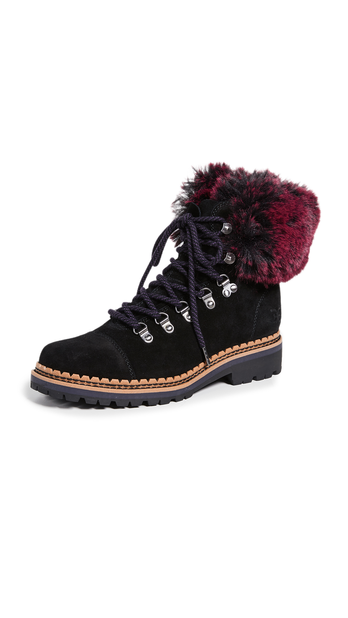 Sam Edelman Bowen Boots - Black/Raspberry Wine