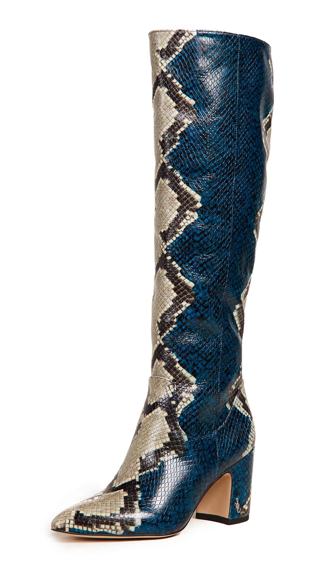 Sam Edelman Hai Tall Boots - Peacock Blue Multi