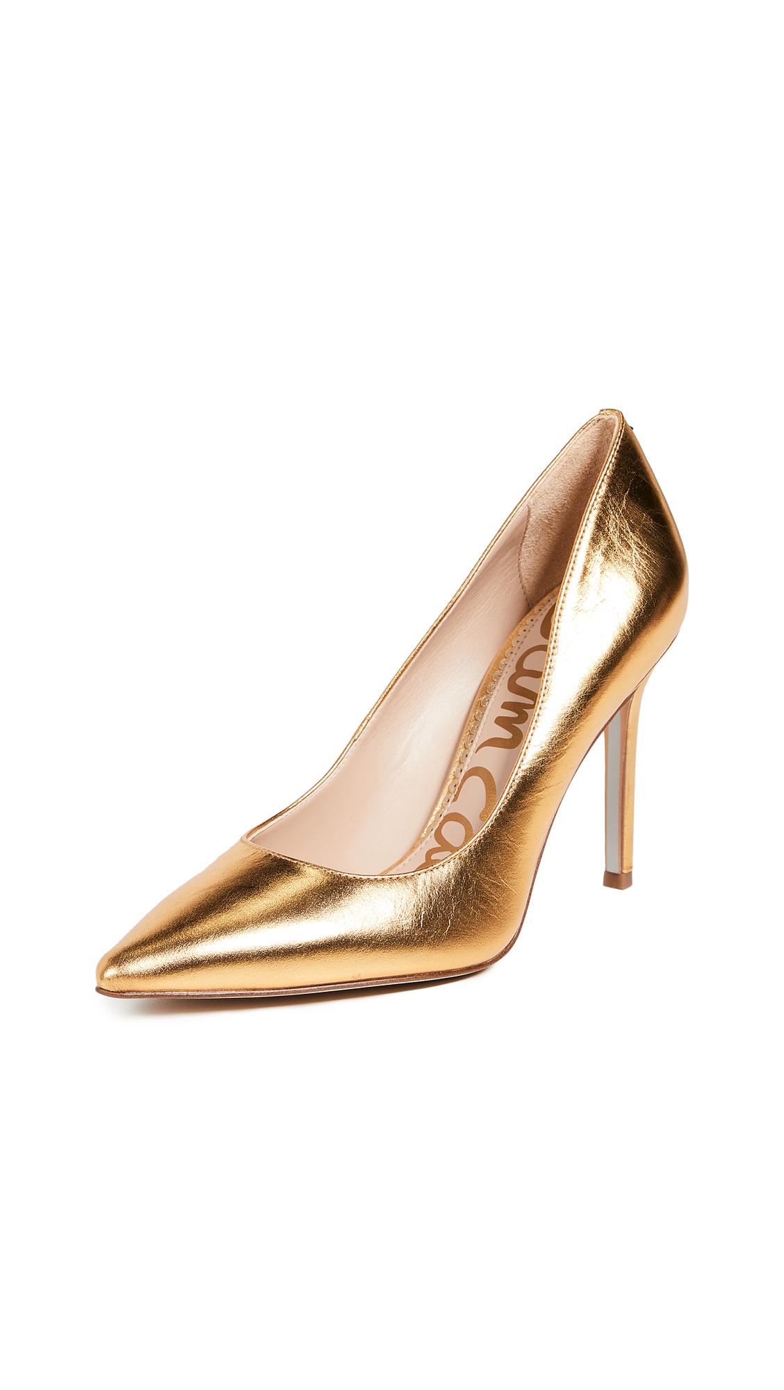 Sam Edelman Hazel Pumps - Exotic Gold