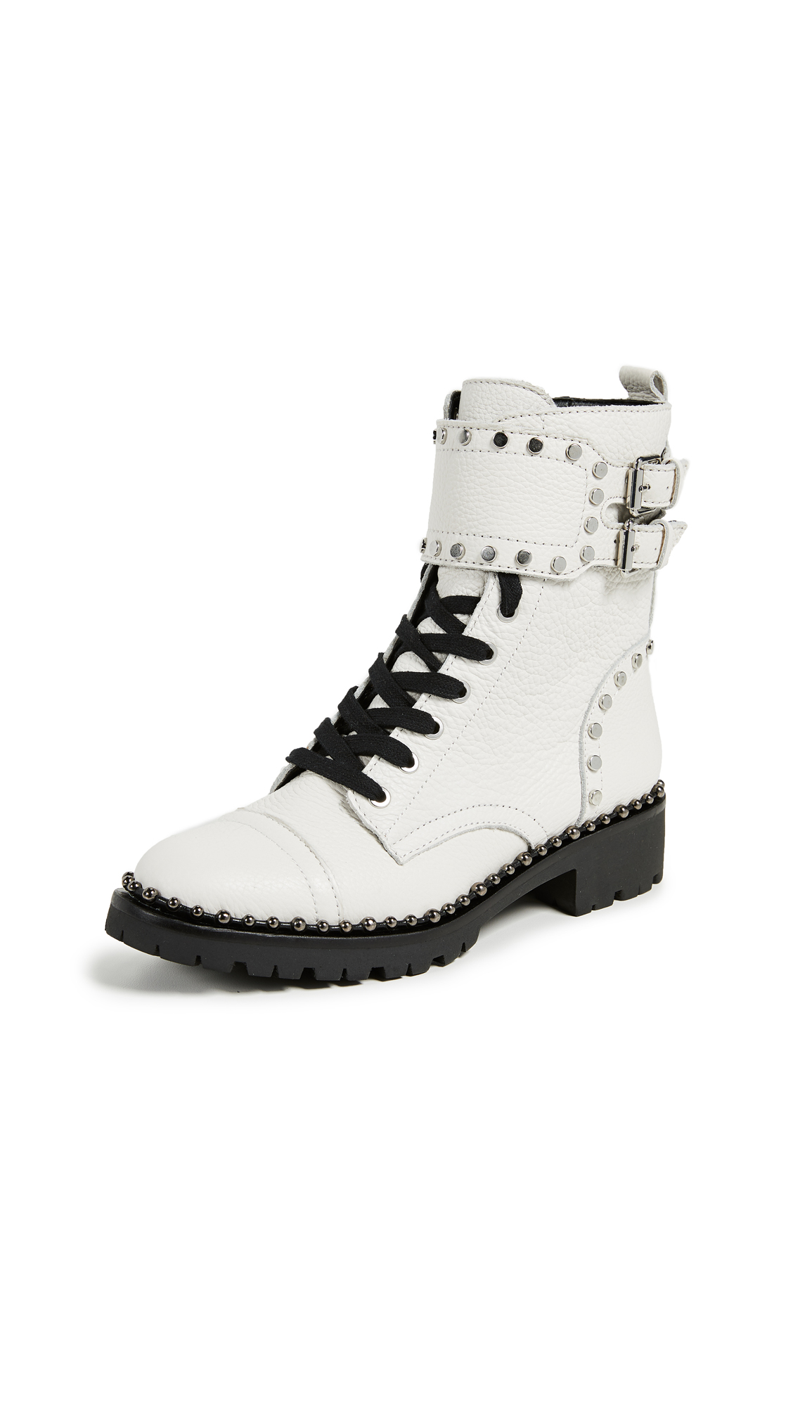 Sam Edelman Jennifer Moto Boots - Bright White