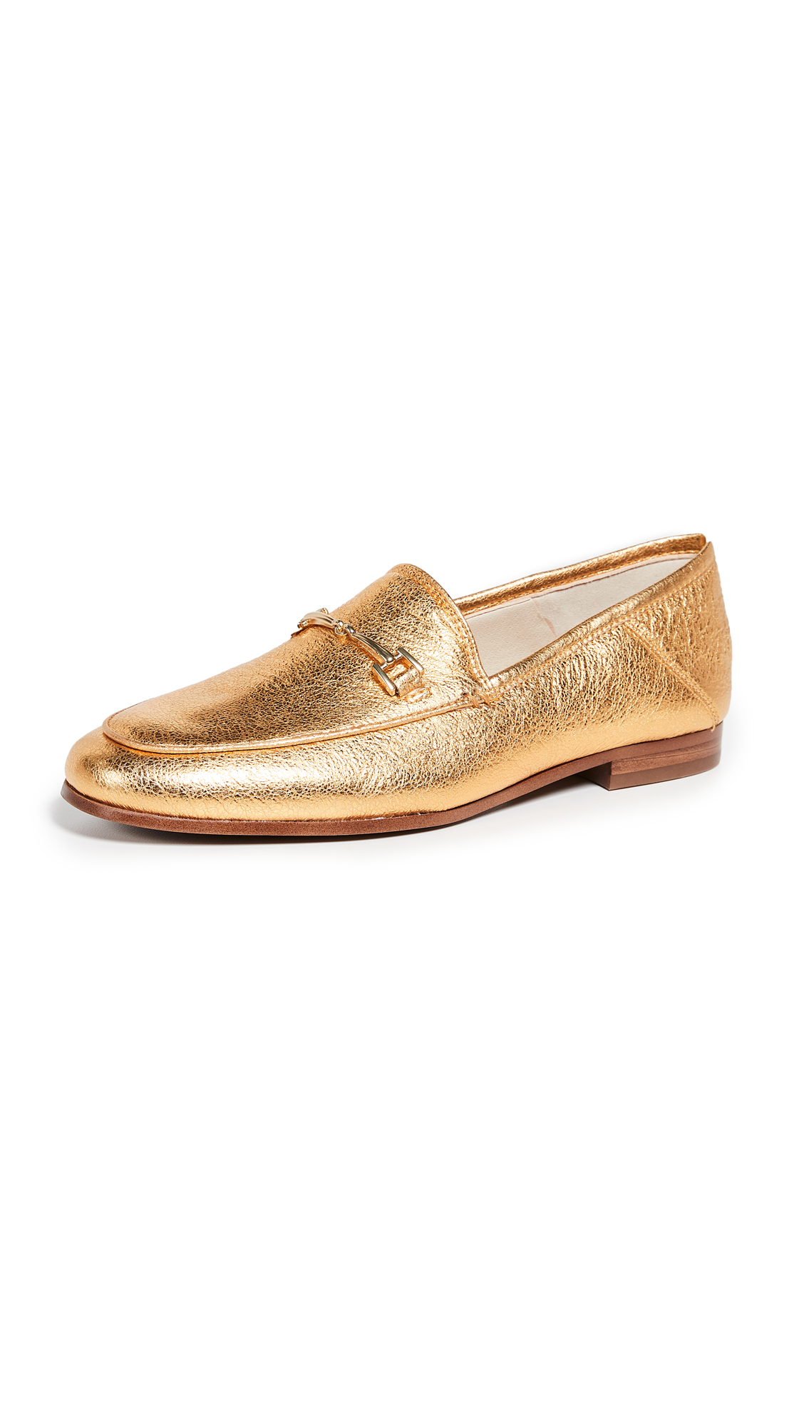 Sam Edelman Loraine Loafers - Exotic Gold