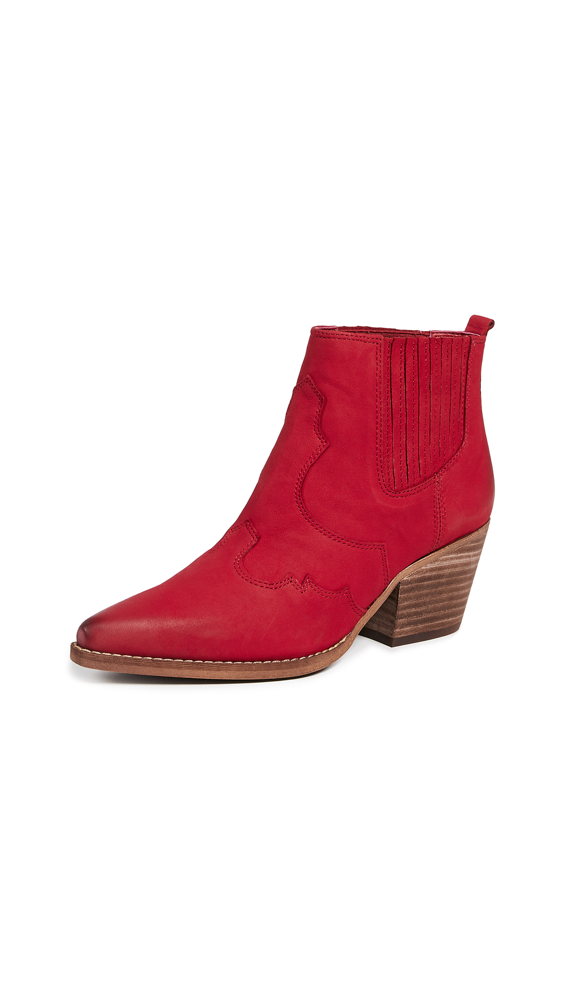 Sam Edelman Winona Booties - Deep Red