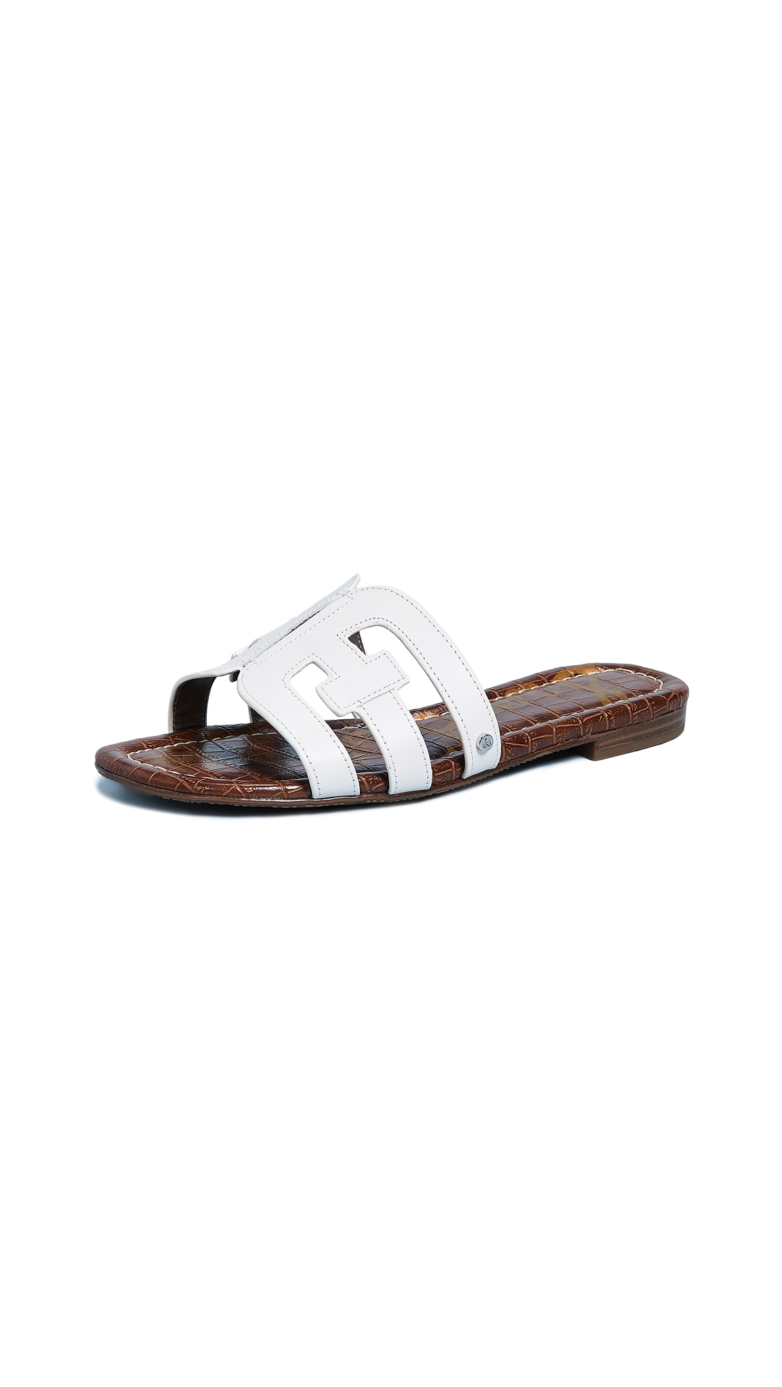 d50d9e786c6c Sam Edelman Women S Bay Leather Slide Sandals In White