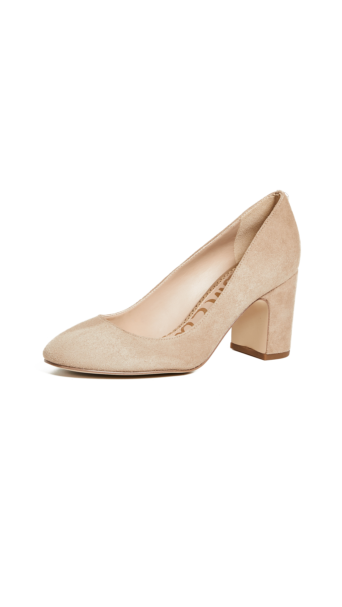 Sam Edelman Junie Suede Pumps - Oatmeal