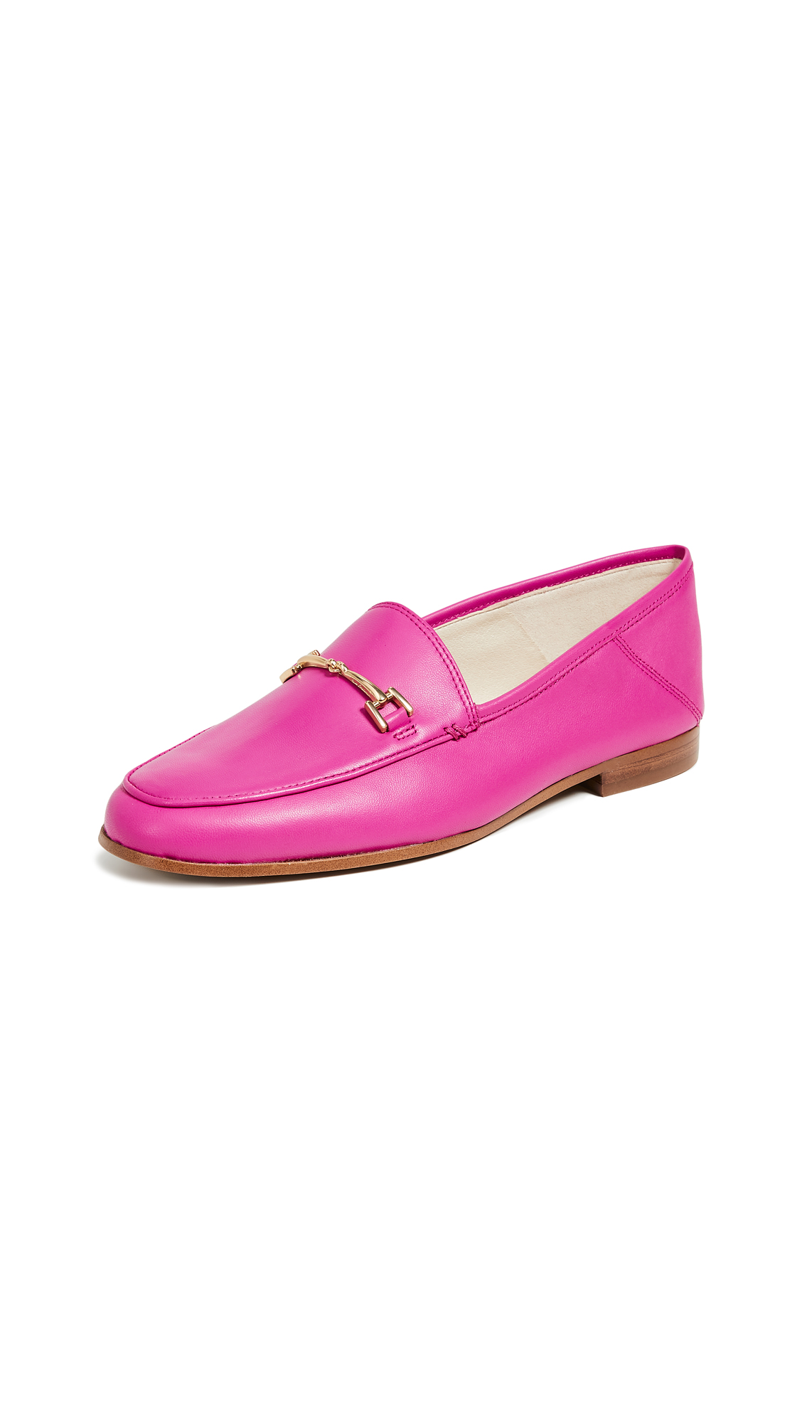 Loraine Leather Loafers in Retro Pink