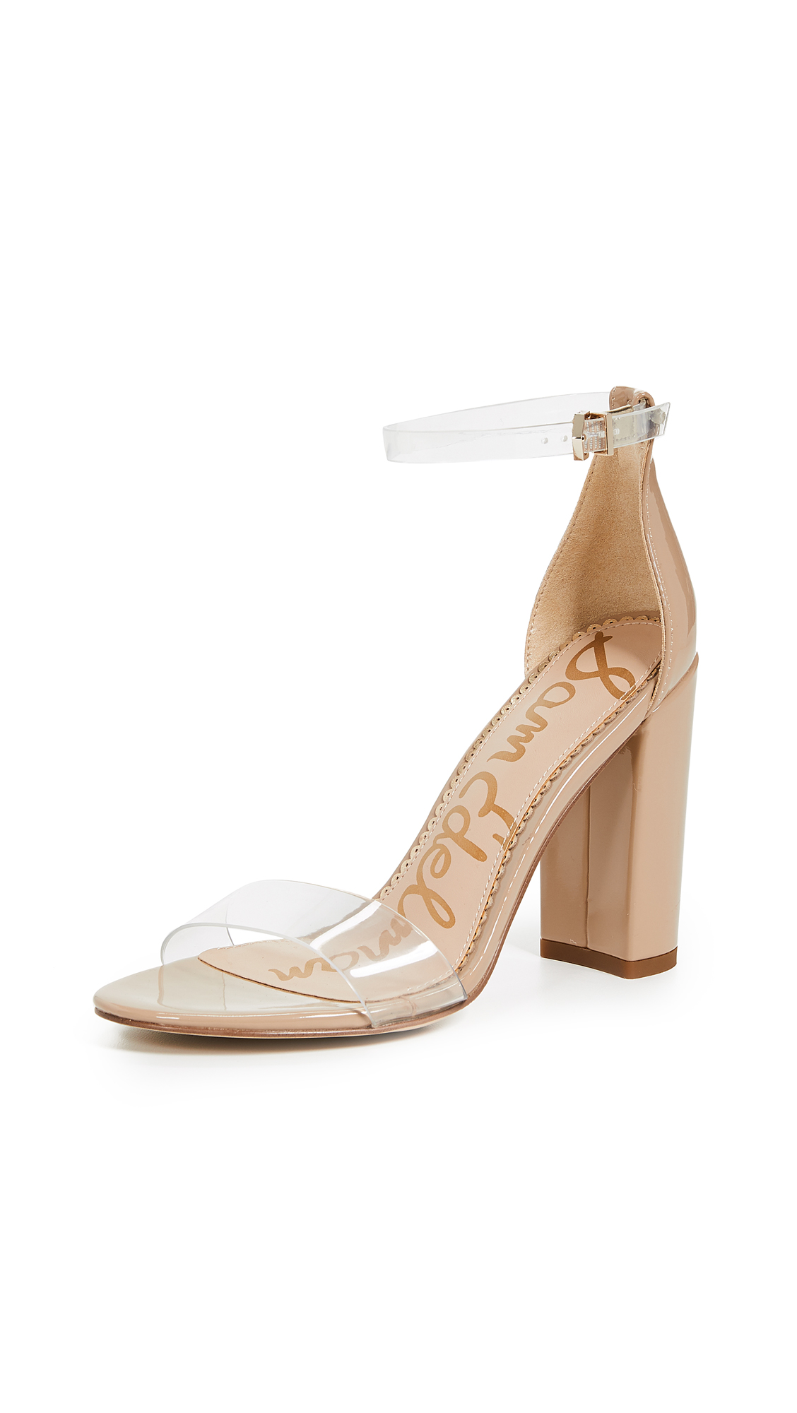 Sam Edelman Yaro Sandals - Clear/Tan
