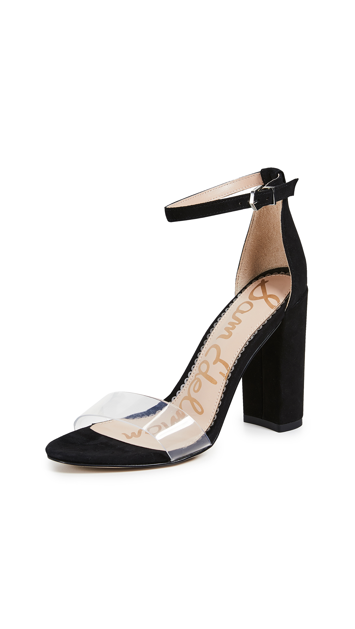 Sam Edelman Yaro Sandals - Clear/Black