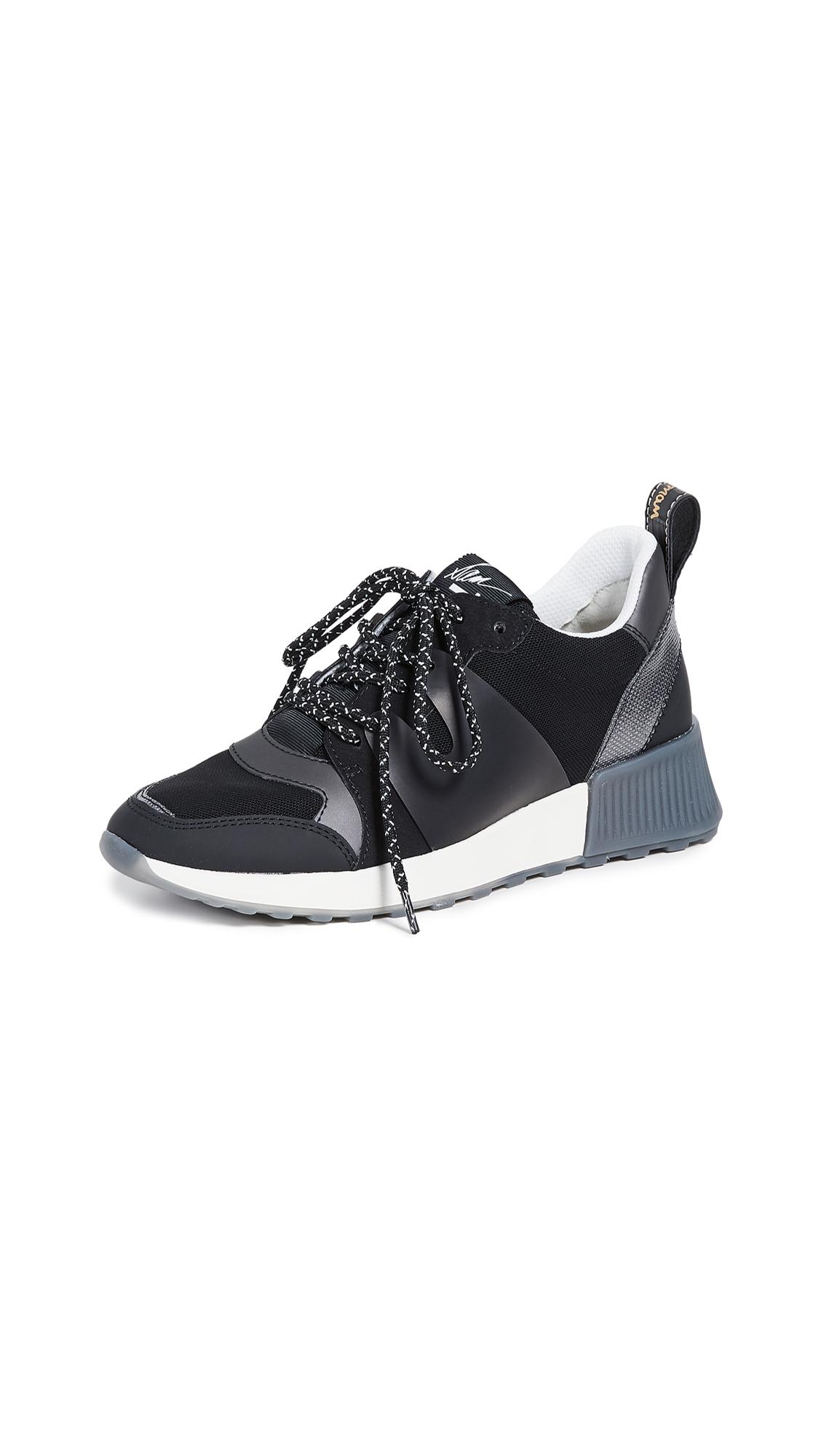 Sam Edelman Darsie Sneakers - Pewter/Black