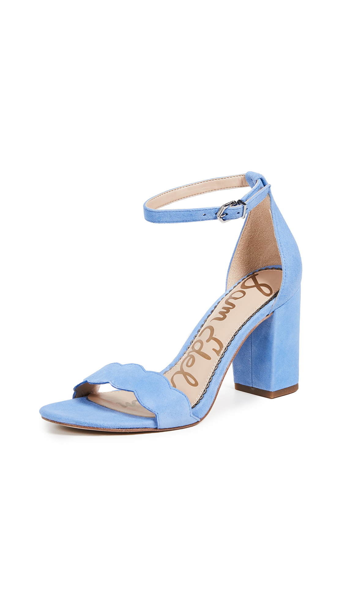 Sam Edelman Odila Suede Sandals - Cornflower Blue