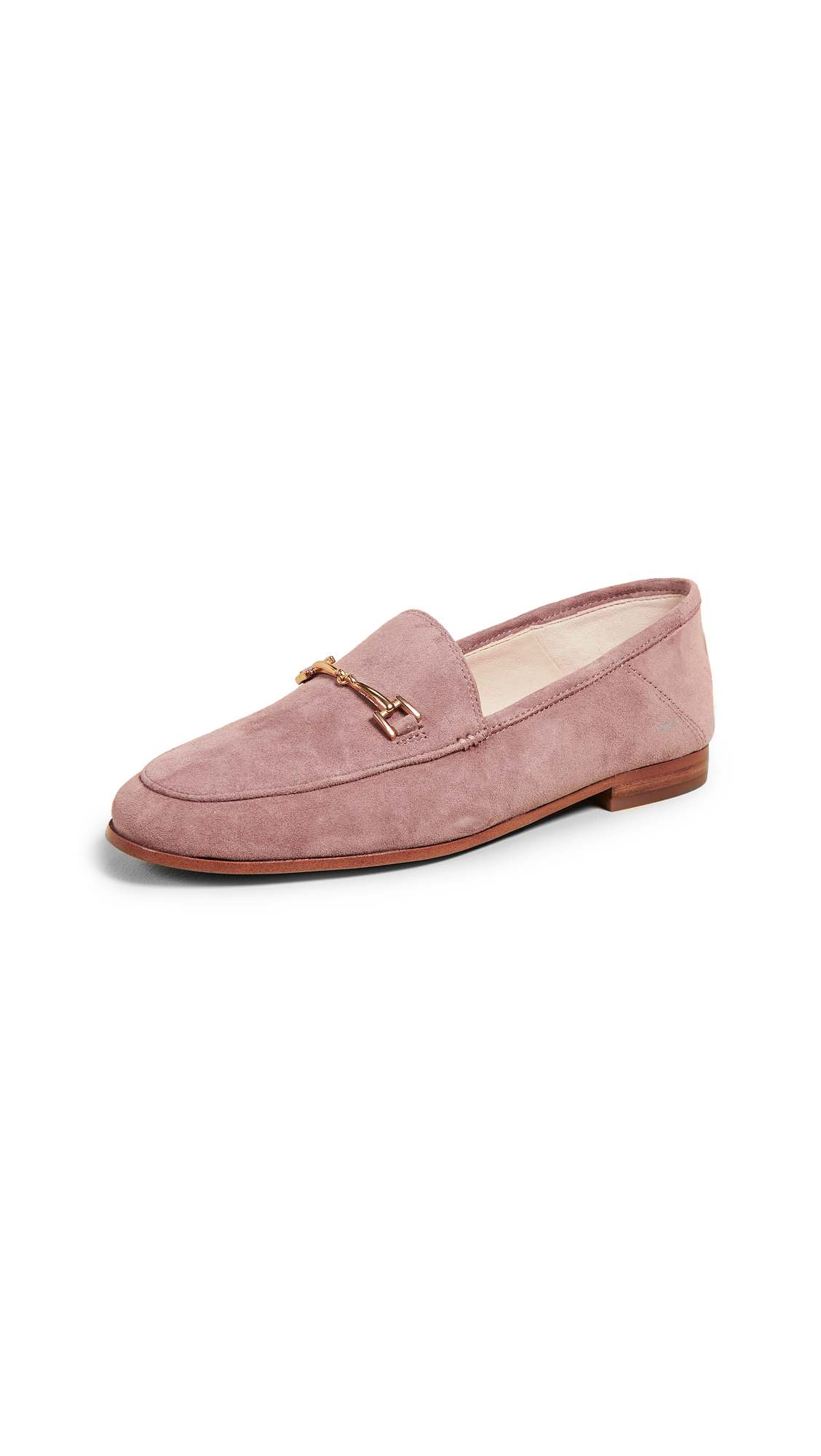 Sam Edelman Loraine Suede Loafers - Dusty Rose