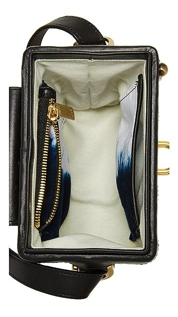 SANCIA L'echelle Rattan Box Bag