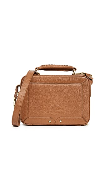 SANCIA Elvire Cross Body Bag In Cognac