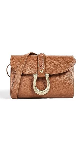 SANCIA Maela Mini Cross Body Bag In Cognac