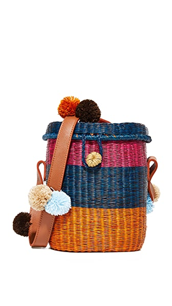Sophie Anderson Flores Basket Bag - Navy Multi