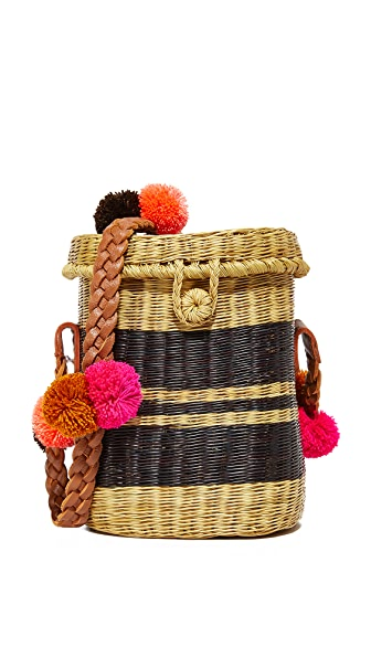 Sophie Anderson Flores Basket Bag - Black Multi