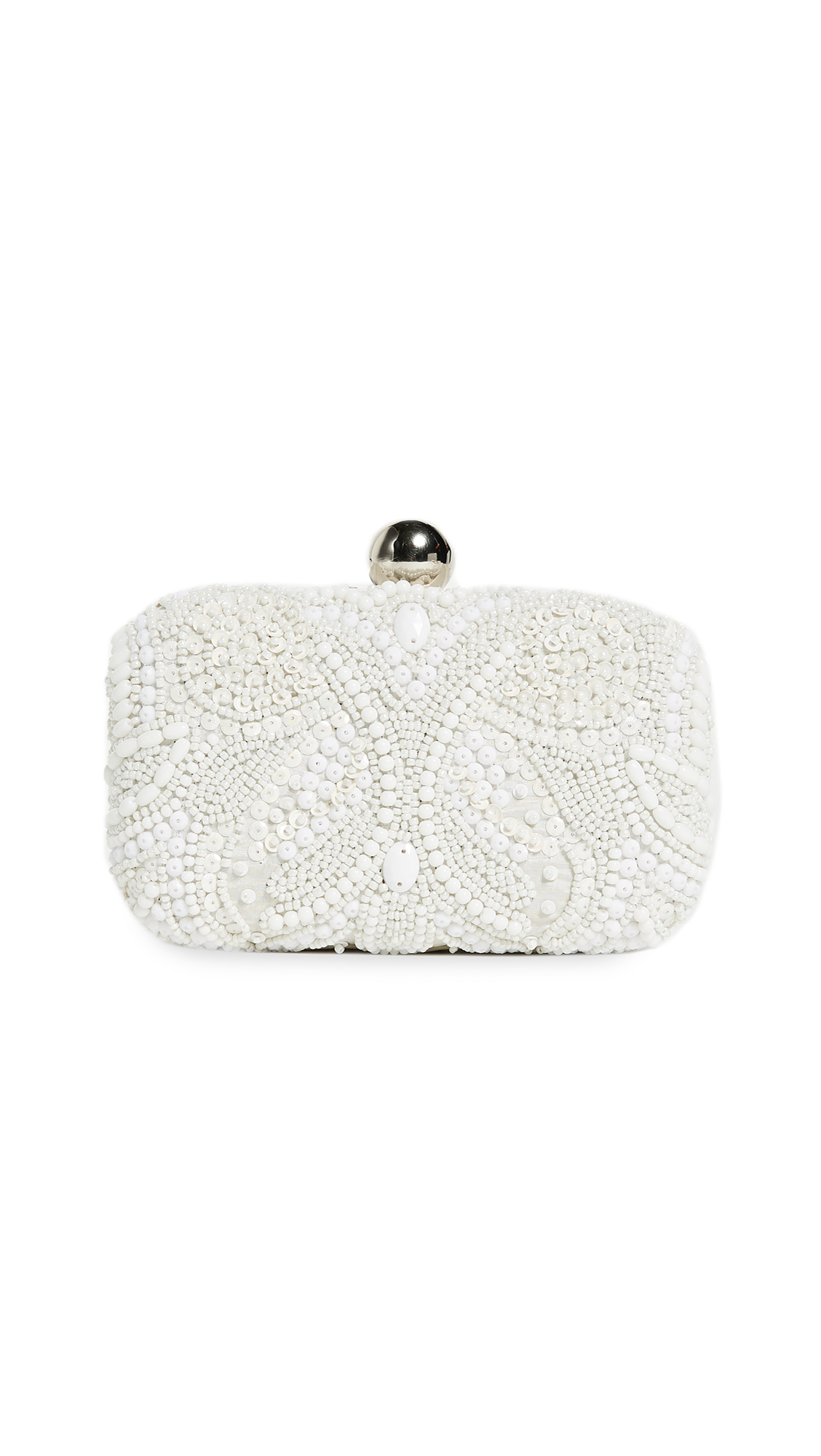 Santi Box Clutch with Embroidered Beading