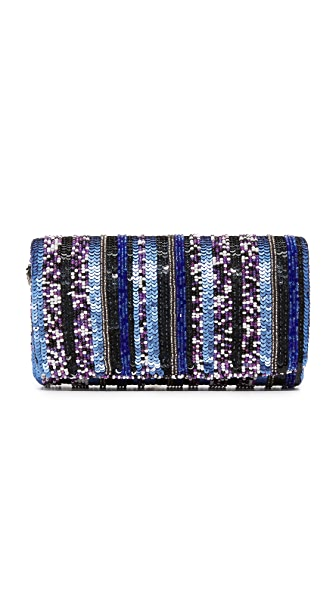 Santi Stripe Bead Clutch