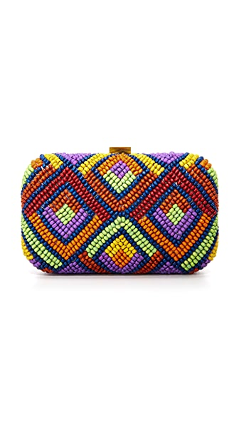 Santi Beaded Box Clutch - Multi