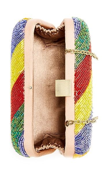 Santi Diagonal Bead Box Clutch