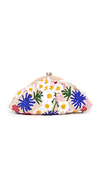 Santi Beaded Flower Clutch - Multi