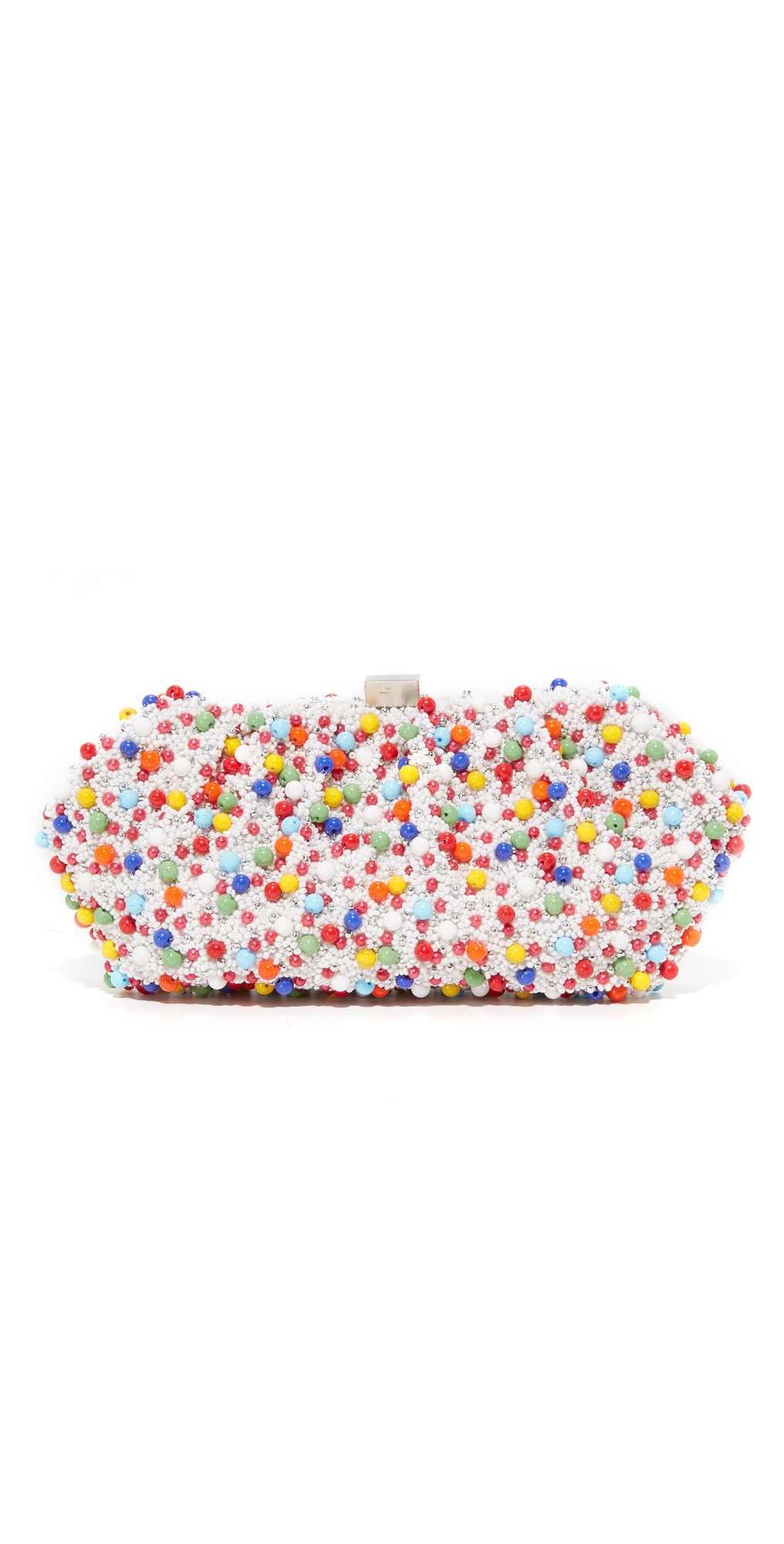Multi Bead Embroidered Clutch Santi