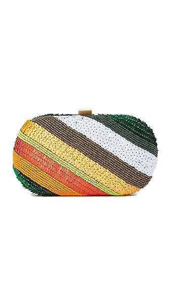 Santi Rainbow Stripe Clutch - Multi