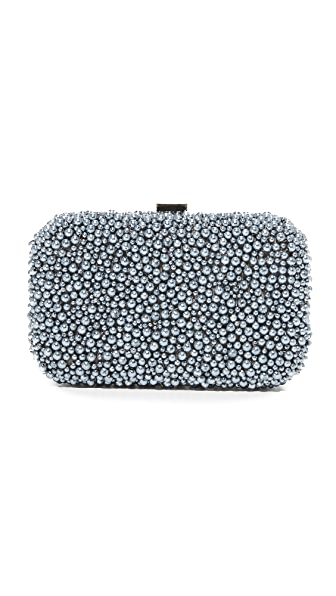 Santi Pearl Box Clutch In Grey