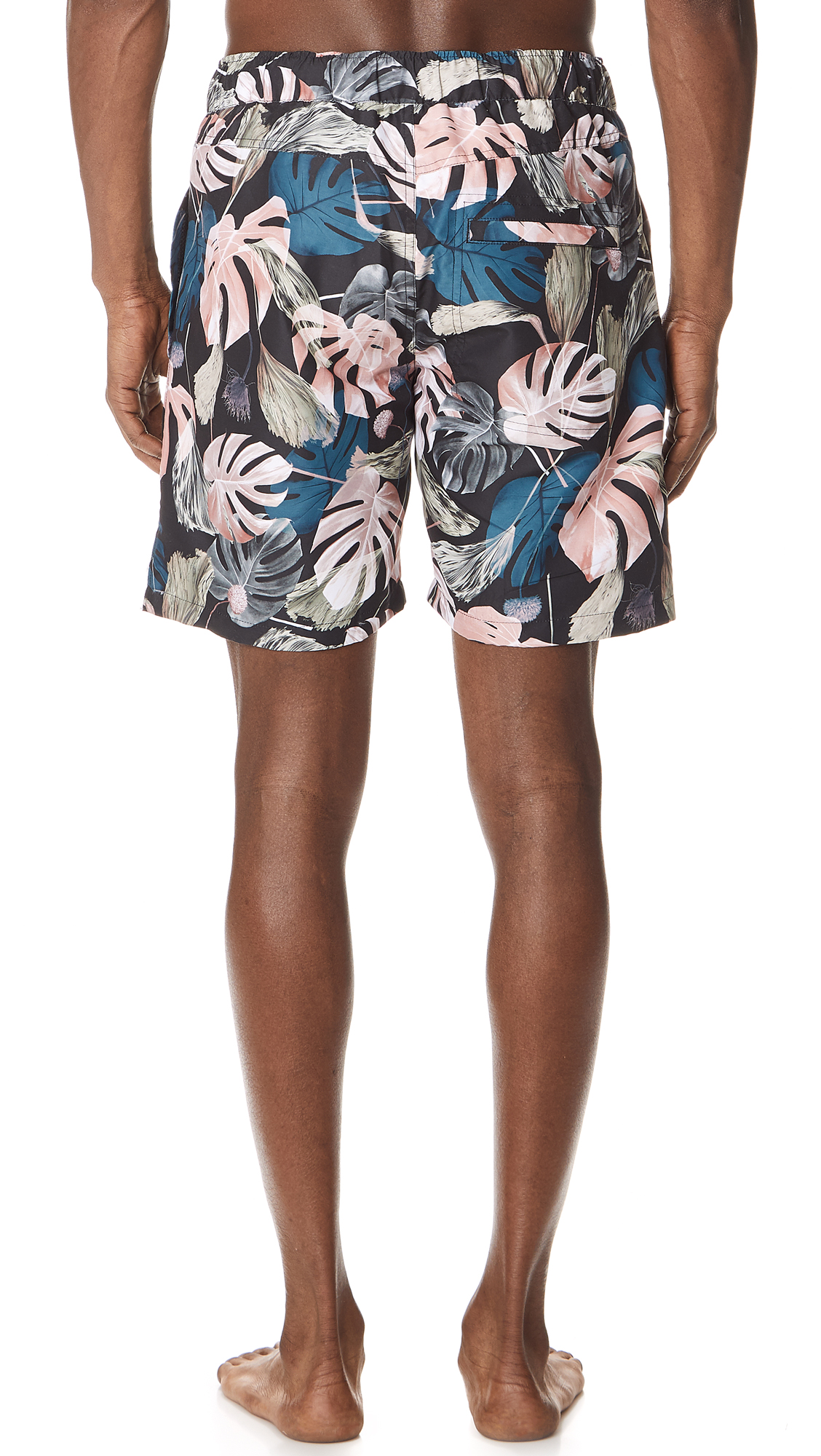 6504ac7806fde Saturdays NYC Trent Monstera Swim Shorts | EAST DANE