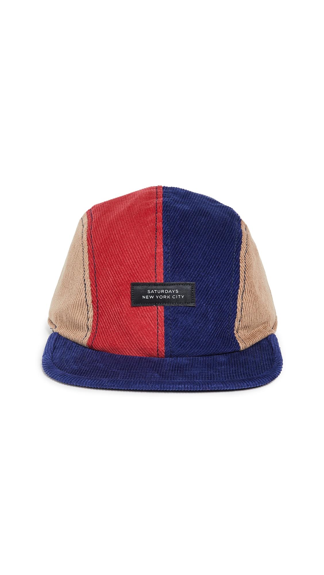 Saturdays Surf Nyc Stanley Italic Denim Snap Hat In Washed Indigo ... fc23f87a53e5