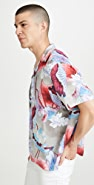 Saturdays NYC Canty Vivid Lotus Flower Shirt
