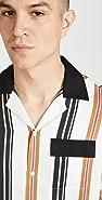 Saturdays NYC Xavier Stripe Short Sleeve Shirt
