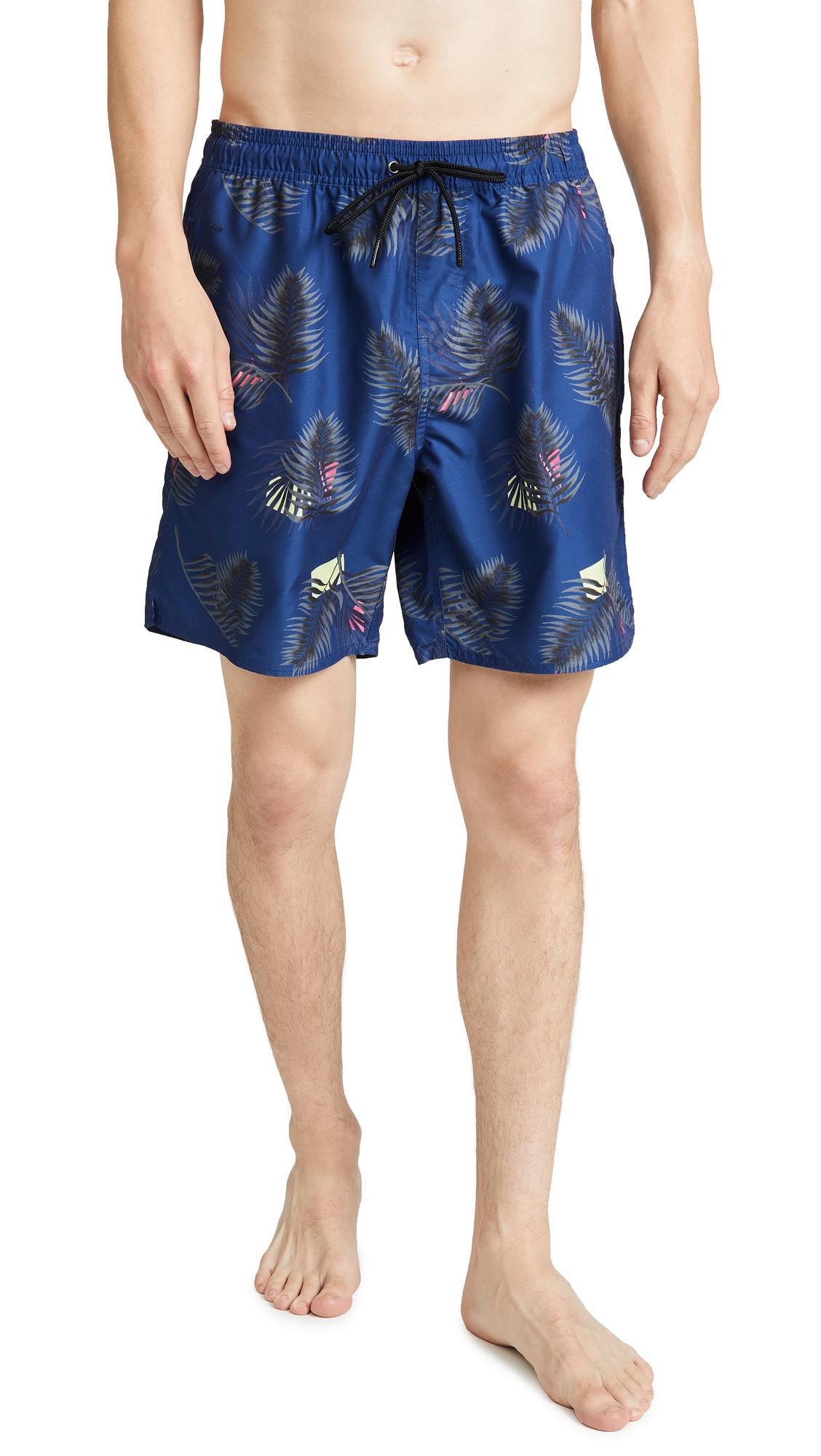 b6a6f53745 Saturdays NYC Timothy Peak Palm Swim Shorts | EAST DANE