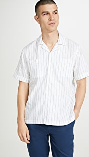 Saturdays NYC Cameron Stripe Short Sleeve Shirt