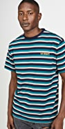 Saturdays NYC Skelton Short Sleeve Striped Tee
