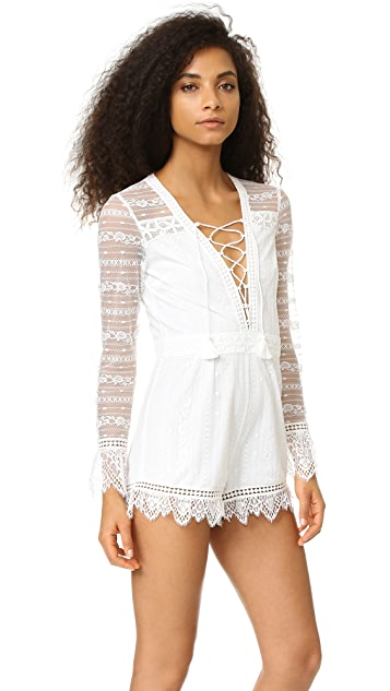 Saylor Karolina Lace Up Romper