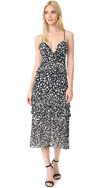 Saylor Brooke Pleated Floral Dress