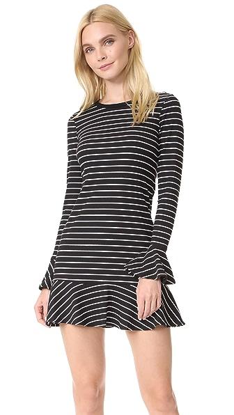 Saylor Tessa Stripe Dress - Black/White