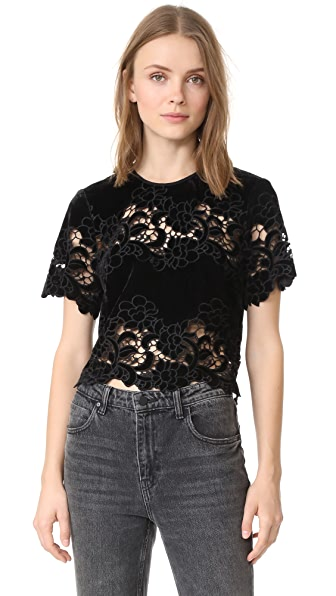 Saylor Eve Embroidery Top In Black