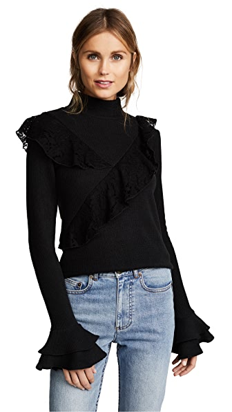Saylor Gabrielle Sweater In Black