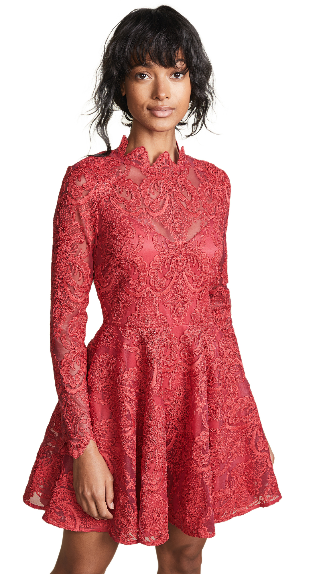 Saylor Rita Dress In Raspberry