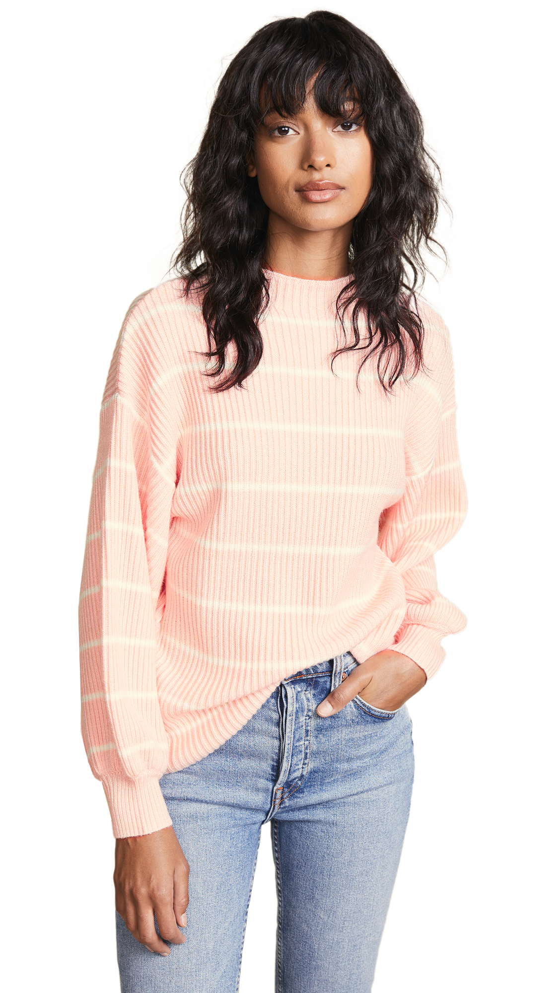 Saylor Bette Sweater In Ivory/Pink