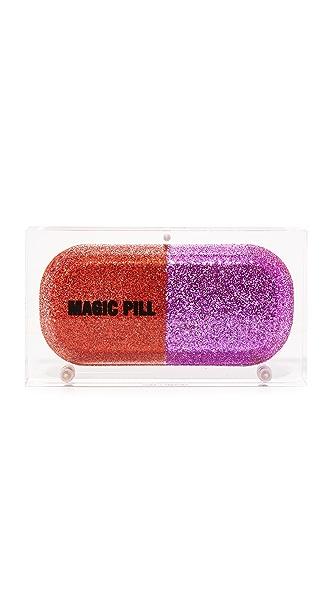 Sarah's Bag Glitter Magic Pill Clutch