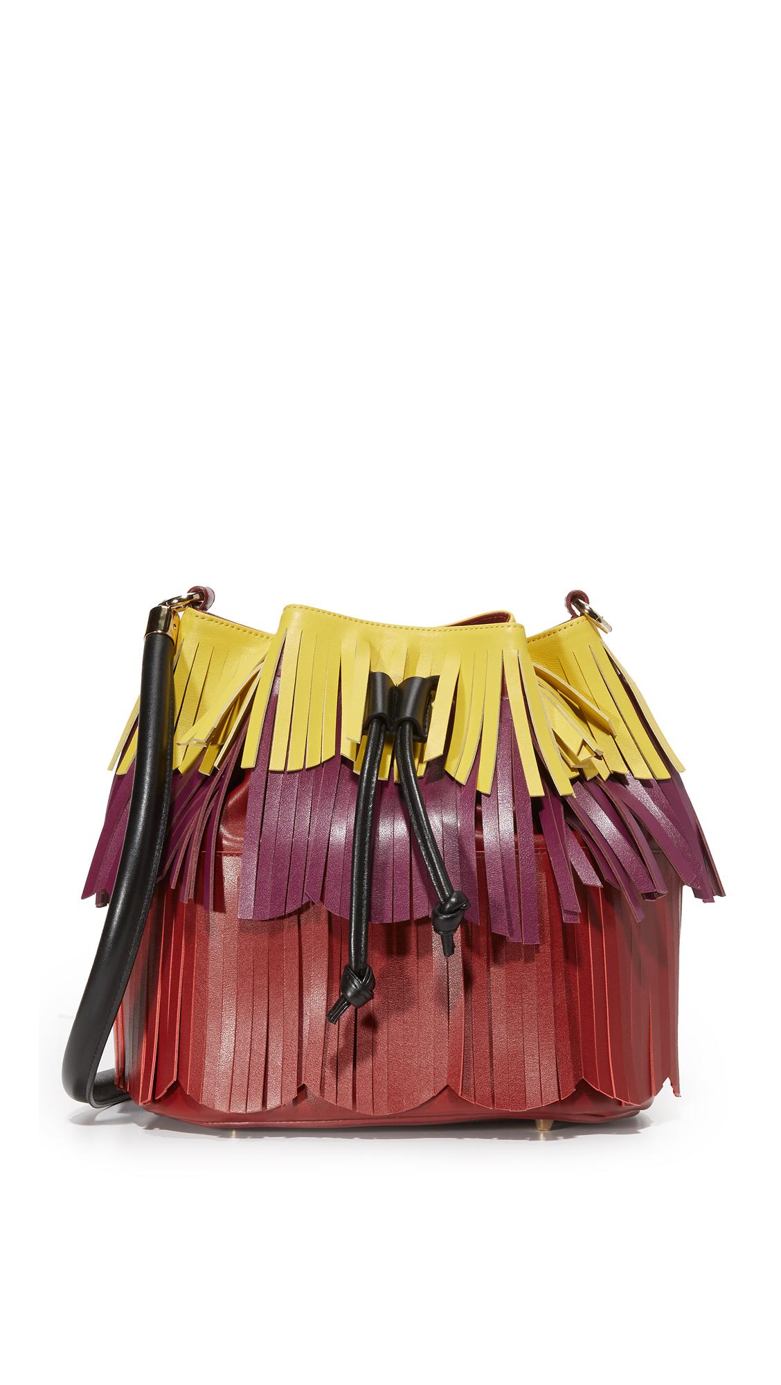 sara battaglia female sara battaglia jasmine bucket bag yellowvioletred