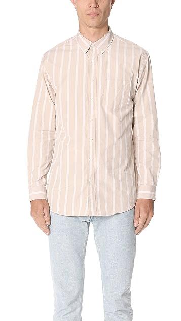 Schnayderman's Leisure Poplin Bold Stripe Shirt