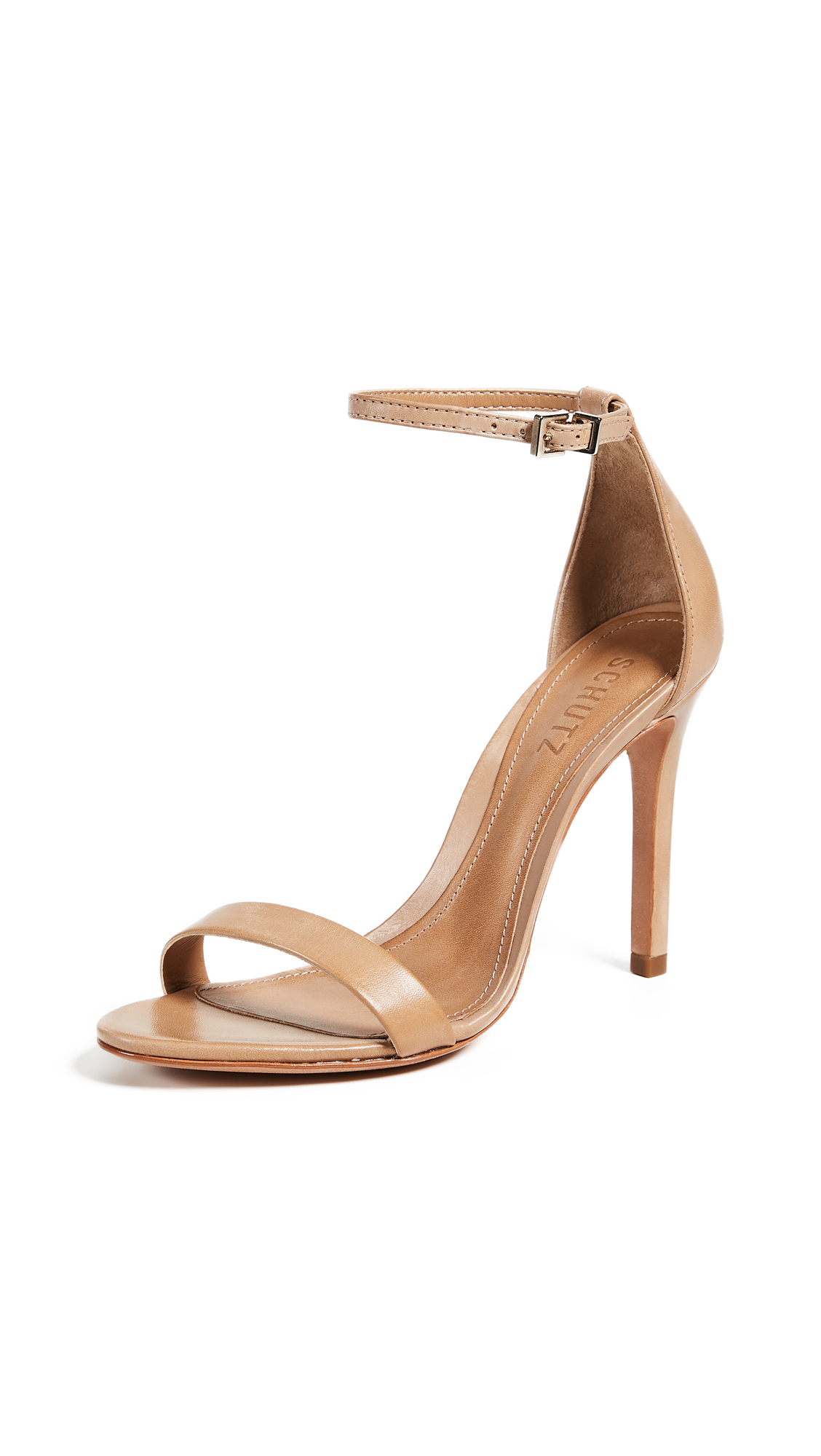 Schutz Cadey Lee Sandals - Light Wood