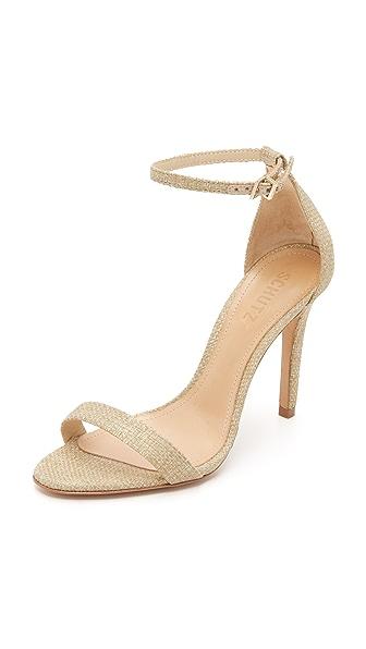 Schutz Cadey Lee Sandals - Linen Gold