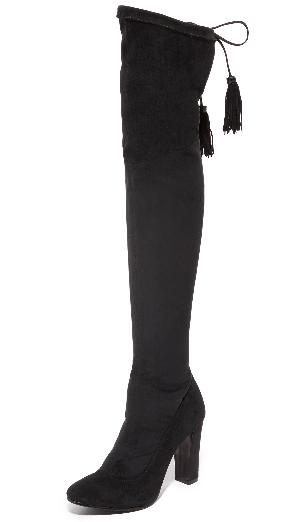 Schutz Beau Over The Knee Boots - Black
