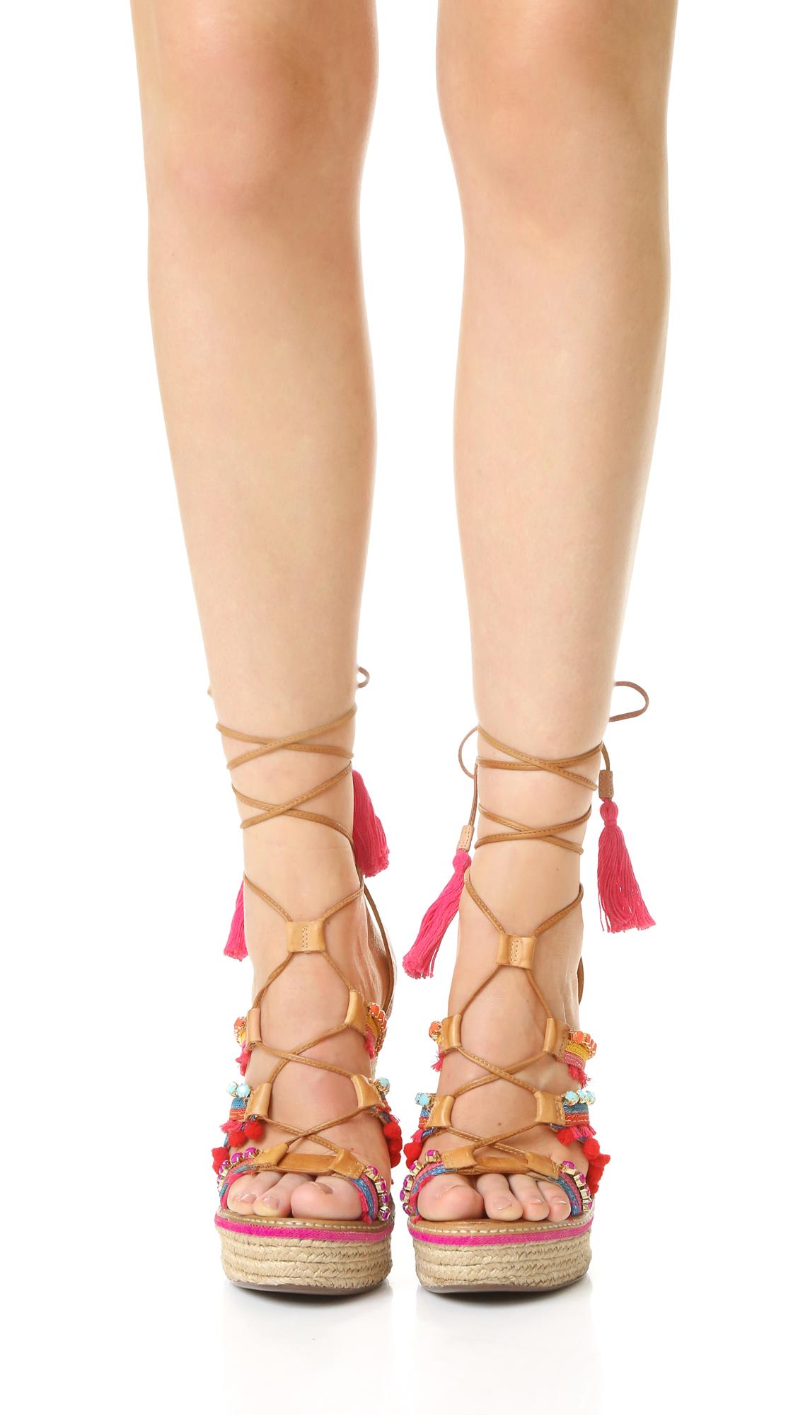 1e3ee829291 Schutz Mella Wrap Wedge Sandals