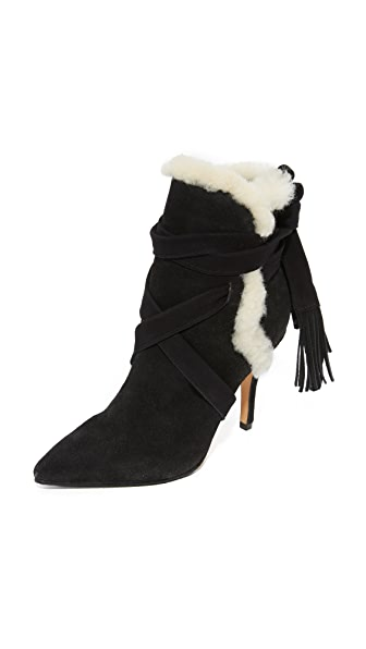 Schutz Finn Booties - Black/Cream