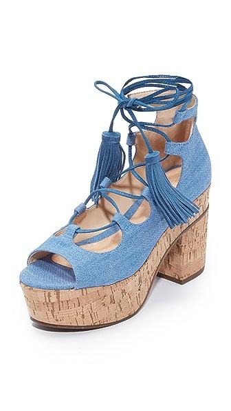 Schutz Minilia Platform Sandals - Blue
